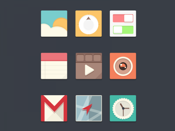 Folder Button Graphic Icons