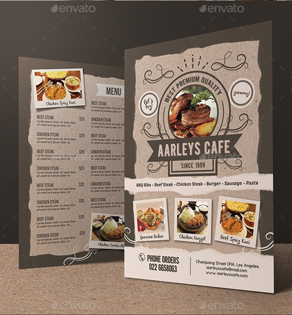 Food And Cafe Menu Flyer