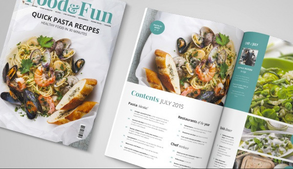 Food And Fun Magazine InDesign Template