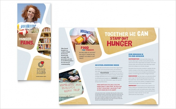 Food Bank Brochure Template