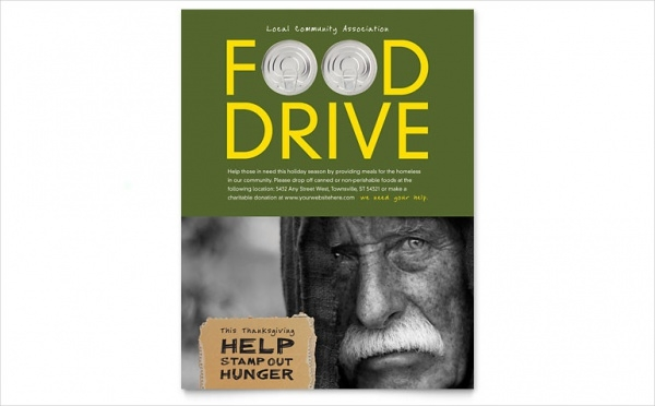 Food Drive Fundraiser Flyer Template