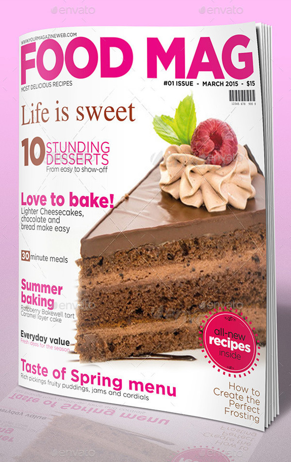 Food Magazine InDesign Template