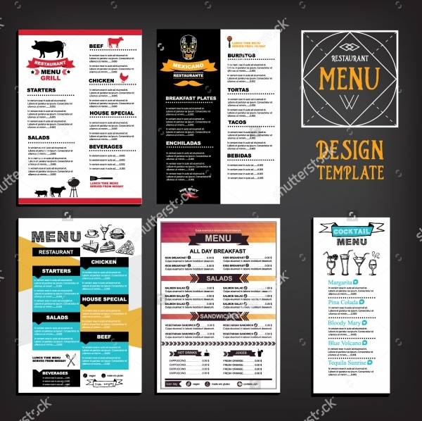 Food Restaurant Menu Flyer