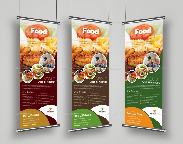 Food Restaurant Roll Up Banner