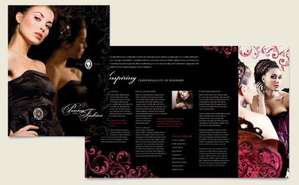 Formal Fashions & Jewelry Boutique Brochure 1