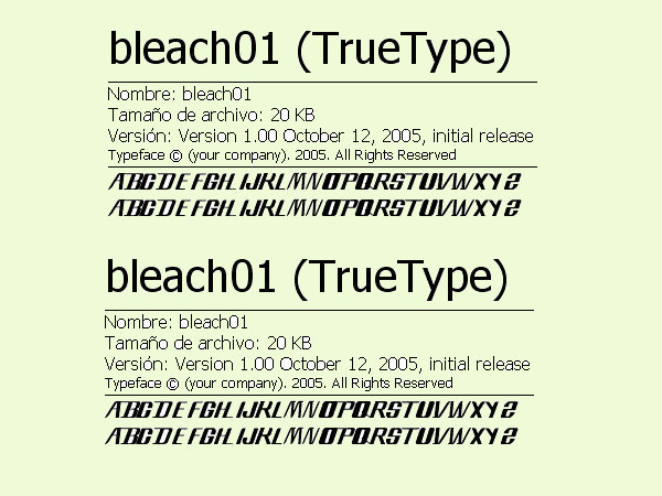 Free Bleach Font Style