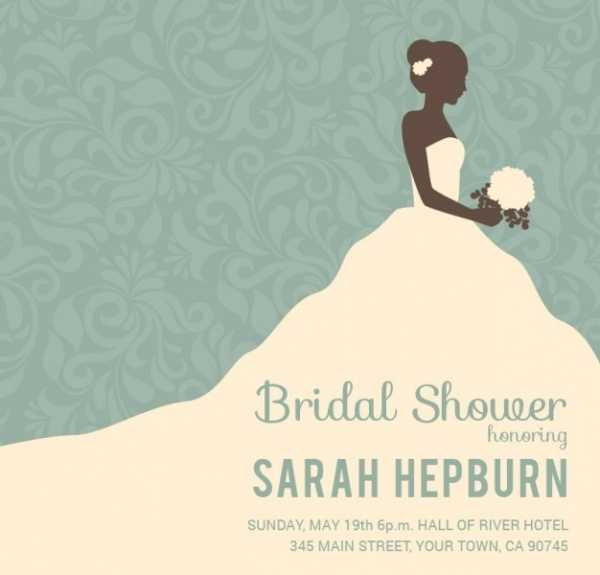 Bridal Shower Invitations  Psd Vector Eps Jpg Download