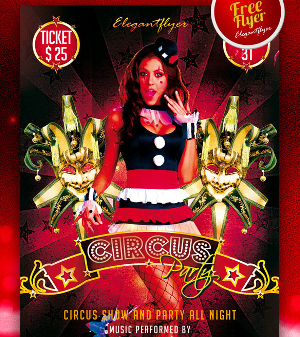 Circus Flyer Templates  Psd Vector Eps Jpg Download