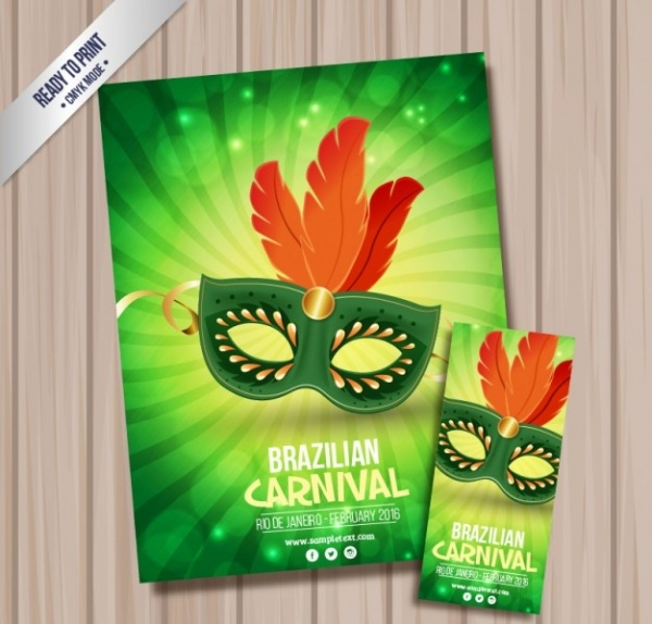 Free Elegant Mask Flyer Design