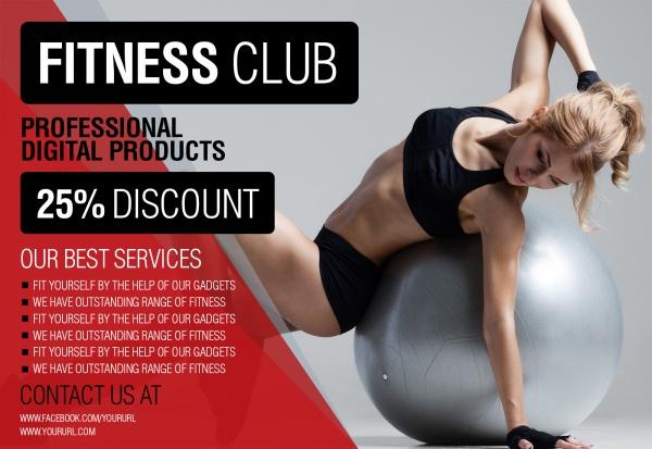 Professional Digital Fitness Club Flyer