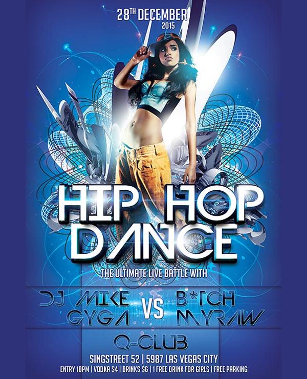 free hip hop dance flyer template
