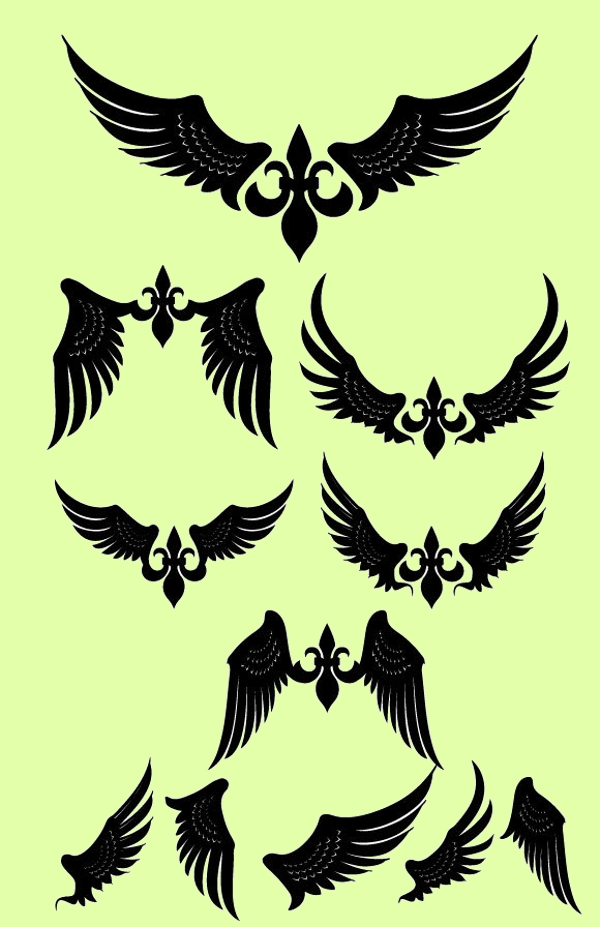 Free Simple Wings Vector Pack