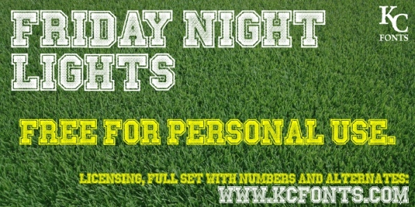 Friday Night Lights Varsity Font