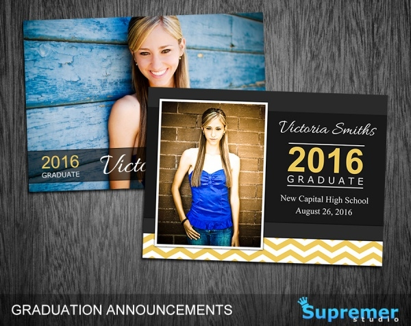Friends & Family Graduation Card Template Photo