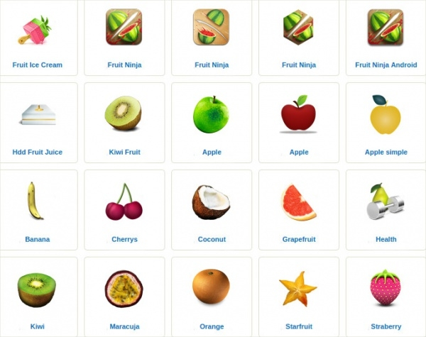 Fruit Icons With Names