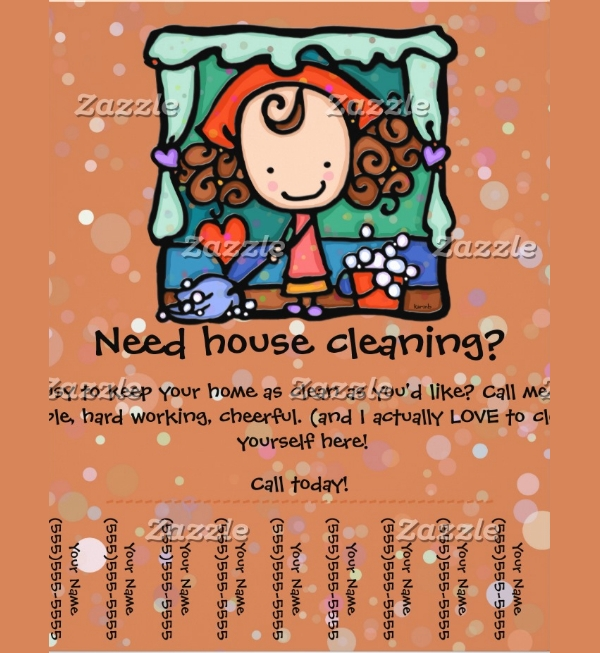 Girlie housecleaning business Flyer