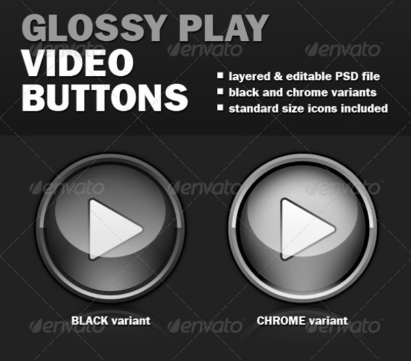 Glossy Video Buttons