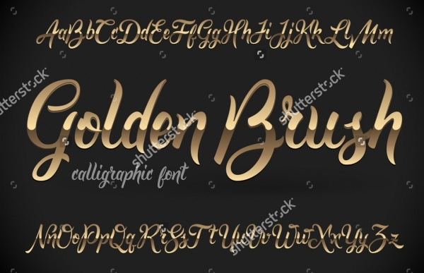 Golden Brush Calligraphic Font
