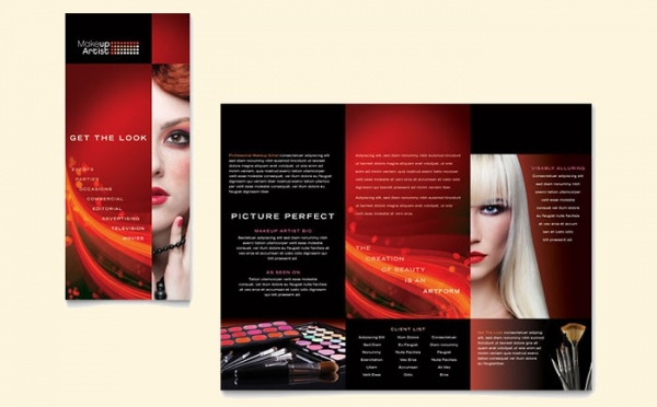 Gradient Makeup Artist Brochure Template