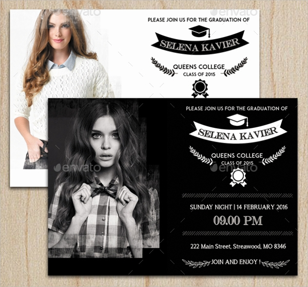Graduation Invitation Card Design