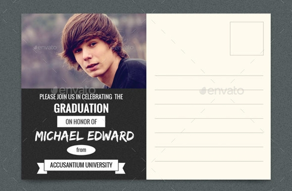 Graduation Party Post Card & Invitation Card Template