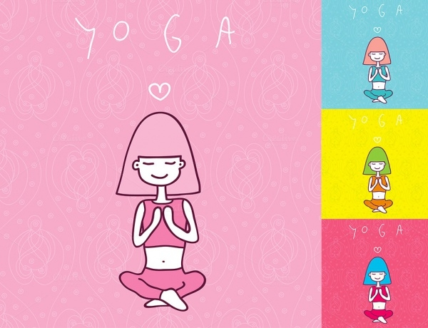 Graphic Design Yoga Vector