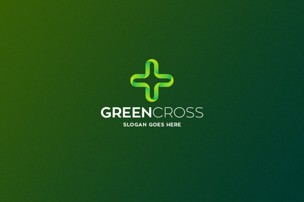 green cross logo design