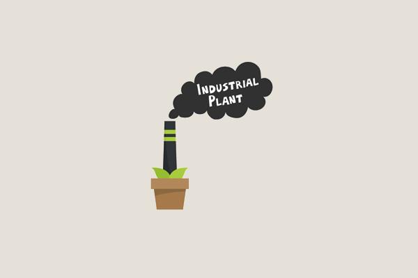 Green Industrial Plant Logo