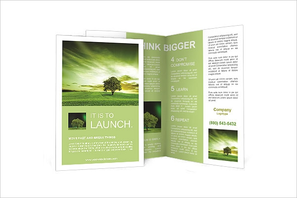 Green landscape Brochure Template