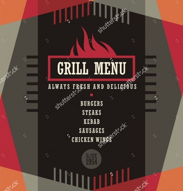 Grill menu Flyer Design