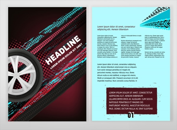 Grunge Tire Automotive Brochure Design