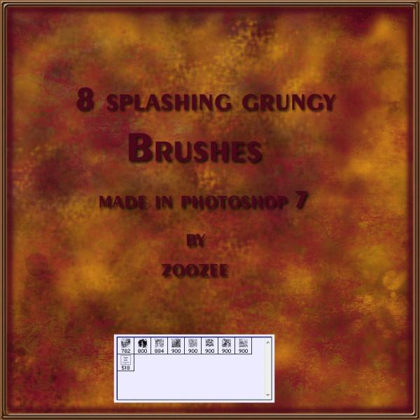 Grungy Splashes Photoshop Brushes