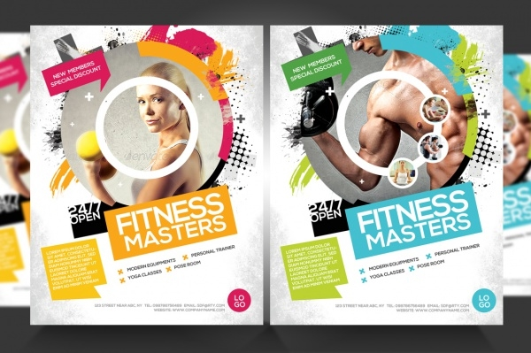 Fitness Flyer Templates  Psd Vector Eps Jpg Download