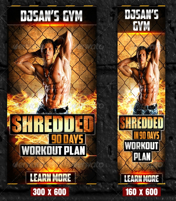 Gym and Workout Promotion Banner