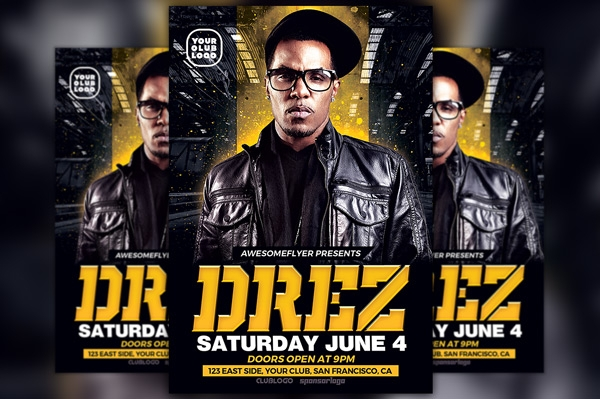 HIP HOP DJ Flyer Template