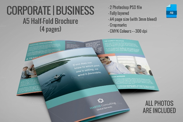 Half Fold Brochure for Commercial Business