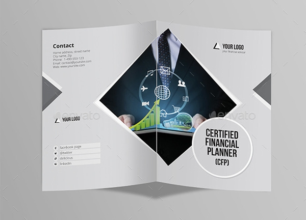 Half Fold Brochure for Financial Advisor