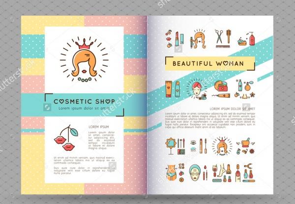 Half Fold Cosmetic Brochure