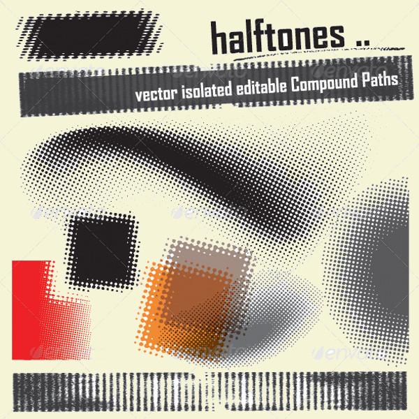 Halftone Elements Dots Vector