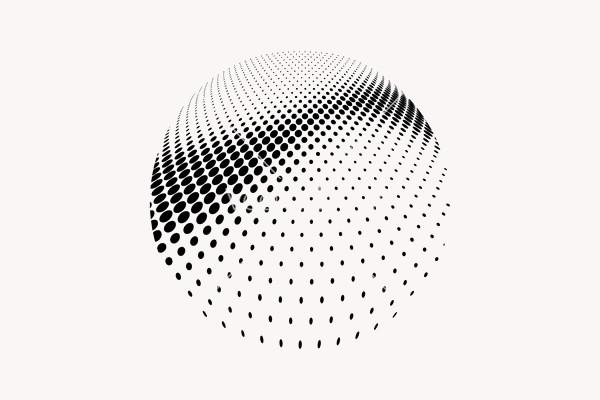 Halftone Sphere Dots Vector