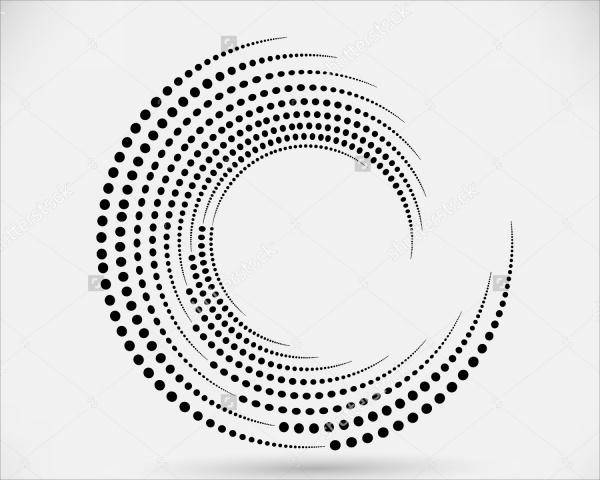 Halftone Swirl Vector Design