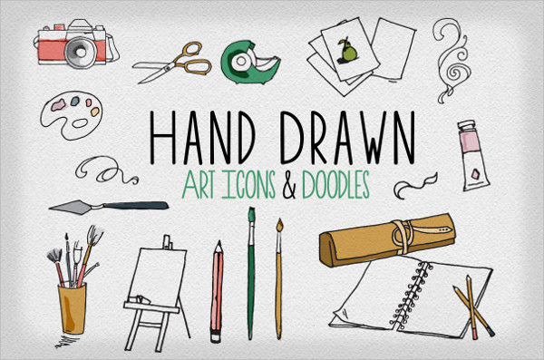 Hand Drawn Art & Doodle Icons