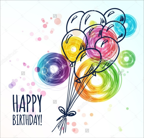 Hand Drawn Birthday Vector