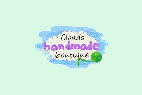 Hand Drawn Cloud Boutique Logo