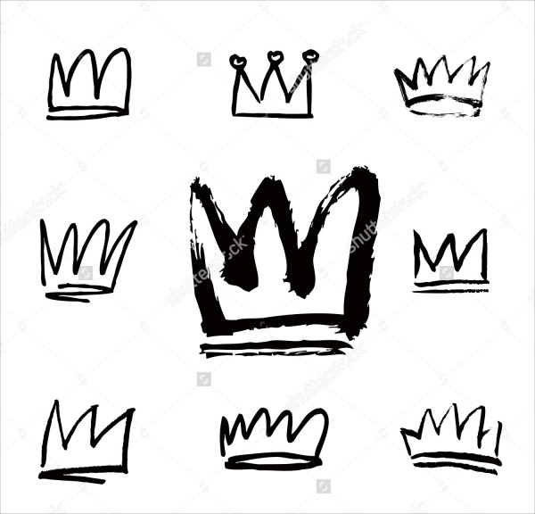 Hand Drawn PS Crowns Brushes