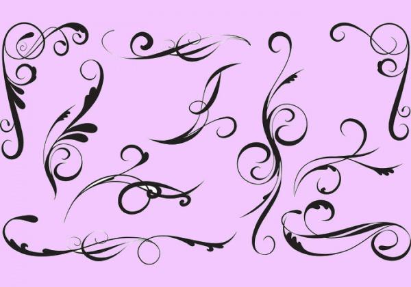 Hand Drawn Vector Swirls Pack