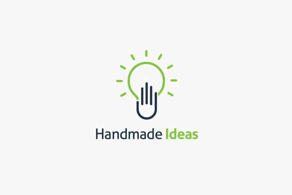 Hand Made Light Bulb Logo