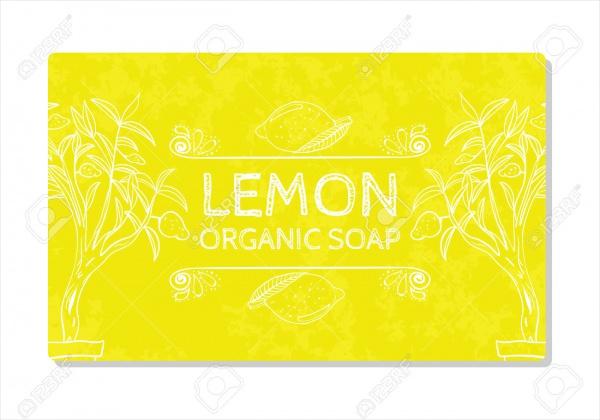 Hand Organic Soap Label