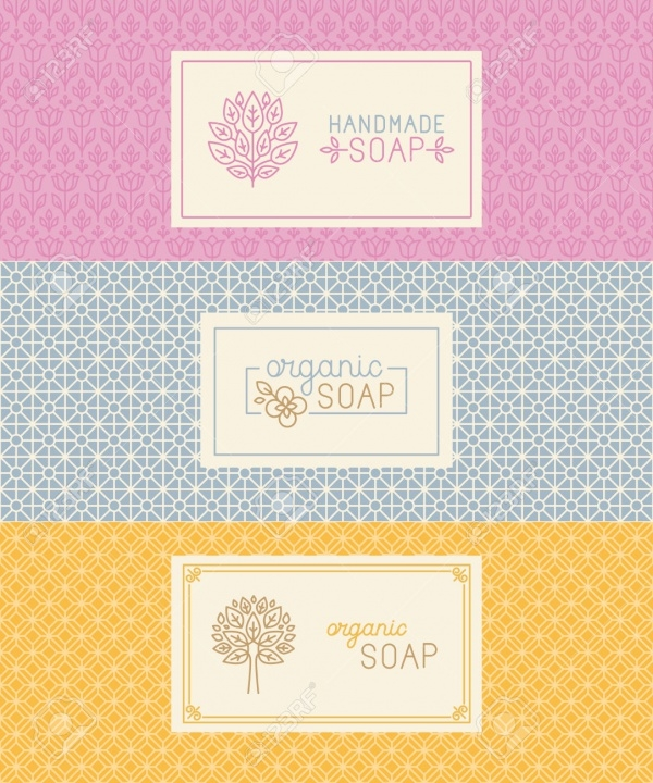 Handmade Soap Packaging & Wrapping Paper Template