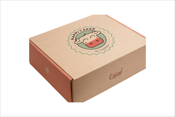 Happi Cakes Cake Box Packaging
